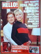 <!--1999-01-23-->Hello! magazine - Fiona Phillips and Martin Frizell cover