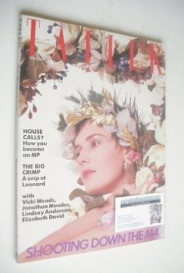 <!--1985-03-->Tatler magazine - March 1985 - Lucy Ferry cover