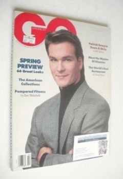 US GQ magazine - February 1989 - Patrick Swayze cover