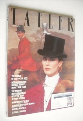 <!--1985-10-->Tatler magazine - October 1985 - Lady Teresa Manners cover