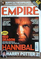 <!--2002-10-->Empire magazine - Hannibal cover (October 2002 - Issue 160)