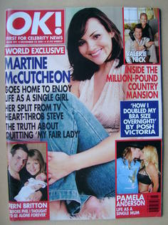 <!--2001-11-22-->OK! magazine - Martine McCutcheon cover (22 November 2001