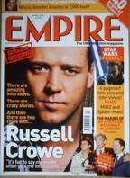 <!--2002-04-->Empire magazine - Russell Crowe cover (April 2002 - Issue 154)