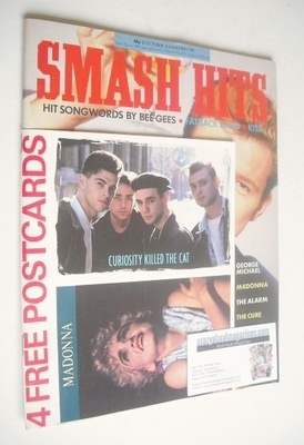 <!--1987-10-21-->Smash Hits magazine - Rick Astley cover (21 October-3 Nove