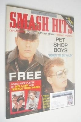 <!--1987-08-12-->Smash Hits magazine - Pet Shop Boys cover (12-25 August 19