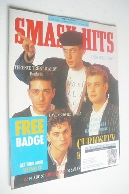 <!--1987-06-17-->Smash Hits magazine - Curiosity Killed The Cat cover (17-3