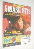 <!--1987-04-08-->Smash Hits magazine - Jon Bon Jovi cover (8-21 April 1987)