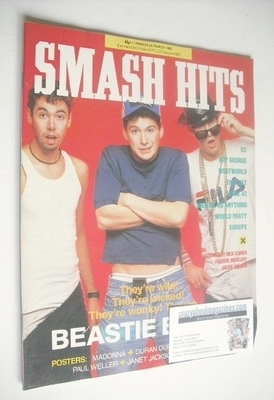 <!--1987-03-11-->Smash Hits magazine - The Beastie Boys cover (11-24 March