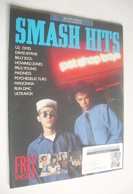 <!--1986-09-24-->Smash Hits magazine - Pet Shop Boys cover (24 September 19