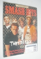 <!--1986-08-27-->Smash Hits magazine - Frankie Goes To Hollywood cover (27 August-9 September 1986)