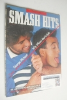<!--1986-06-18-->Smash Hits magazine - George Michael and Andrew Ridgeley cover (18 June-1 July 1986)
