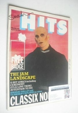 <!--1981-04-02-->Smash Hits magazine - Sal Solo cover (2-15 April 1981)