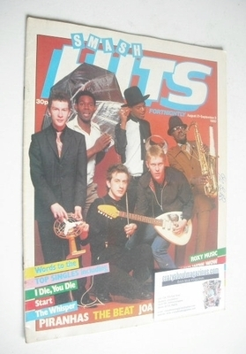 <!--1980-08-21-->Smash Hits magazine - The Beat cover (21 August - 3 Septem
