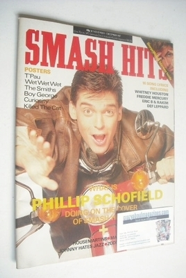 <!--1987-11-18-->Smash Hits magazine - Phillip Schofield cover (18 November