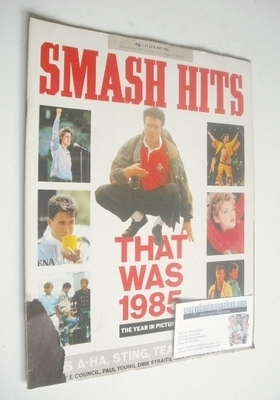 <!--1986-01-01-->Smash Hits magazine - That Was 1985 cover (1-14 January 19