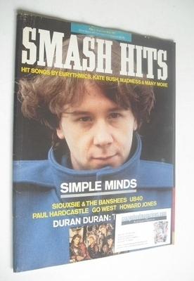 <!--1985-11-06-->Smash Hits magazine - Jim Kerr cover (6-19 November 1985)