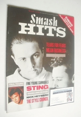 <!--1985-06-19-->Smash Hits magazine - Tears For Fears cover (19 June - 2 J