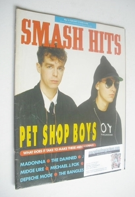 <!--1986-02-26-->Smash Hits magazine - Pet Shop Boys cover (26 February - 1