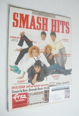 <!--1986-04-23-->Smash Hits magazine - Five Star cover (23 April - 6 May 19