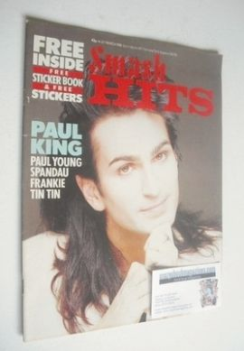 <!--1985-03-14-->Smash Hits magazine - Paul King cover (14-27 March 1985)