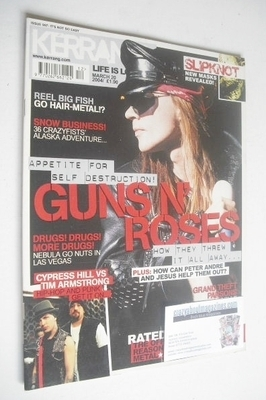 <!--2004-03-20-->Kerrang magazine - Guns N' Roses cover (20 March 2004 - Is