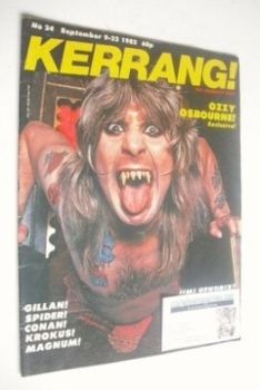 Kerrang magazine - Ozzy Osbourne cover (9-22 September 1982 - Issue 24)