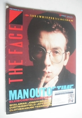 <!--1983-08-->The Face magazine - Elvis Costello cover (August 1983 - Issue