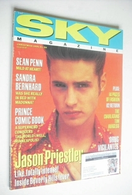 <!--1991-12-->Sky magazine - Jason Priestley cover (Christmas 1991)