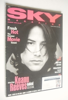 <!--1993-08-->Sky magazine - Keanu Reeves cover (August 1993)
