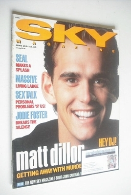 <!--1991-06-->Sky magazine - Matt Dillon cover (June 1991)