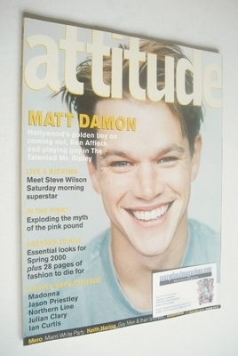 <!--2000-03-->Attitude magazine - Matt Damon cover (March 2000 - Issue 71)
