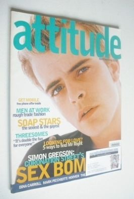 <!--1996-11-->Attitude magazine - Simon Gregson cover (November 1996 - Issu