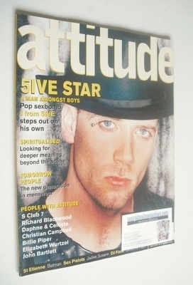 <!--2000-05-->Attitude magazine - J Five cover (May 2000 - Issue 73)