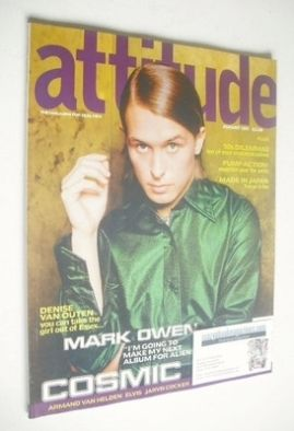 <!--1997-08-->Attitude magazine - Mark Owen cover (August 1997 - Issue 40)