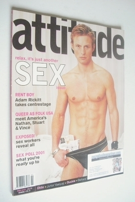<!--2001-02-->Attitude magazine - Adam Rickitt cover (February 2001 - Issue