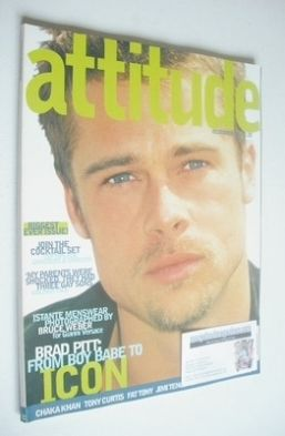 <!--1996-12-->Attitude magazine - Brad Pitt cover (December 1996 - Issue 32