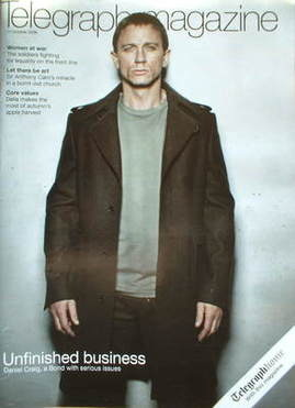 <!--2008-10-11-->Telegraph magazine - Daniel Craig cover (11 October 2008)