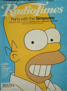 <!--2000-06-17-->Radio Times magazine - Homer Simpson cover (17-23 June 200