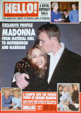 <!--2000-12-12-->Hello! magazine - Madonna and Guy Ritchie cover (12 Decemb