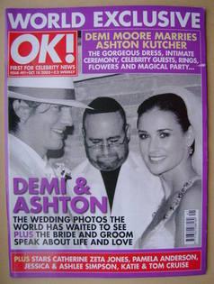 <!--2005-10-18-->OK! magazine - Demi Moore and Ashton Kutcher Wedding cover