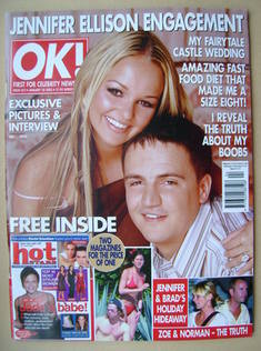 <!--2003-01-28-->OK! magazine - Jennifer Ellison and Tony Richardson cover