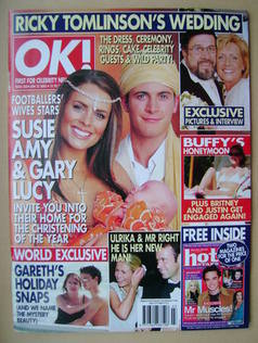 <!--2003-01-22-->OK! magazine - Susie Amy and Gary Lucy cover (22 January 2