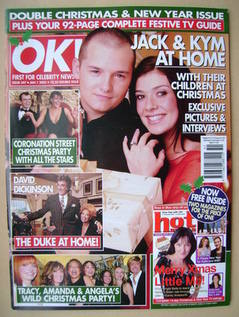 Ok Magazine Jack Ryder And Kym Marsh Cover 1 January 2003 Issue 347