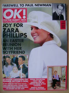 <!--2000-05-05-->OK! magazine - Zara Phillips cover (5 May 2000 - Issue 211