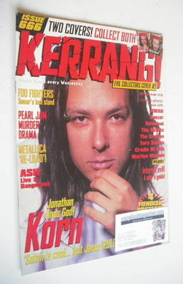 <!--1997-09-20-->Kerrang magazine - Jonathan Davis cover (20 September 1997