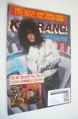 <!--1989-04-01-->Kerrang magazine - Nikki Six cover (1 April 1989 - Issue 2