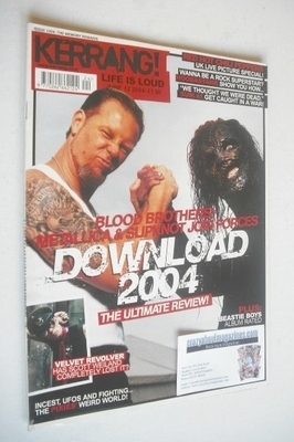 <!--2004-06-12-->Kerrang magazine - Download 2004 cover (12 June 2004 - Iss