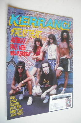 <!--1988-08-27-->Kerrang magazine - Anthrax cover (27 August 1988 - Issue 2