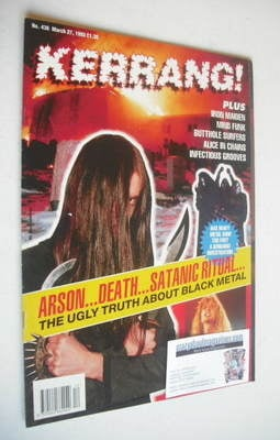 <!--1993-03-27-->Kerrang magazine - Black Metal cover (27 March 1993 - Issu