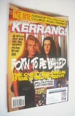 <!--1989-11-25-->Kerrang magazine - Billy Duffy and Ian Astbury cover (25 N